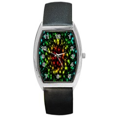 Star Christmas Curtain Abstract Barrel Style Metal Watch