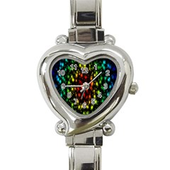 Star Christmas Curtain Abstract Heart Italian Charm Watch