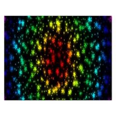 Star Christmas Curtain Abstract Rectangular Jigsaw Puzzl