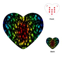 Star Christmas Curtain Abstract Playing Cards (heart)