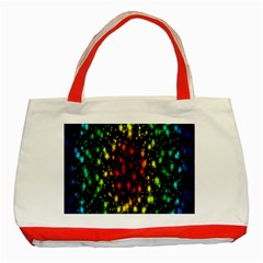 Star Christmas Curtain Abstract Classic Tote Bag (Red)