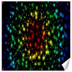 Star Christmas Curtain Abstract Canvas 12  x 12