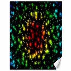 Star Christmas Curtain Abstract Canvas 36  x 48