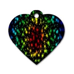 Star Christmas Curtain Abstract Dog Tag Heart (Two Sides)