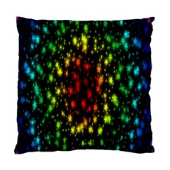 Star Christmas Curtain Abstract Standard Cushion Case (Two Sides)