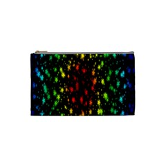 Star Christmas Curtain Abstract Cosmetic Bag (Small)