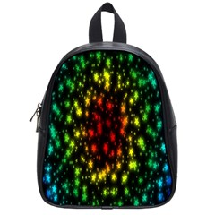 Star Christmas Curtain Abstract School Bags (small)