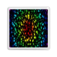 Star Christmas Curtain Abstract Memory Card Reader (Square)