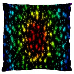 Star Christmas Curtain Abstract Large Cushion Case (Two Sides)