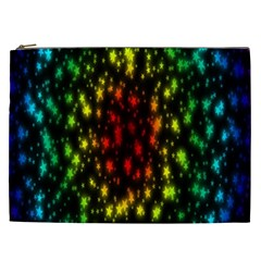 Star Christmas Curtain Abstract Cosmetic Bag (XXL)