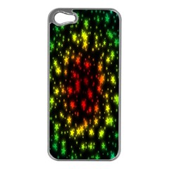 Star Christmas Curtain Abstract Apple Iphone 5 Case (silver)