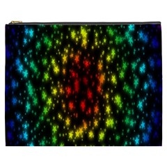 Star Christmas Curtain Abstract Cosmetic Bag (XXXL)