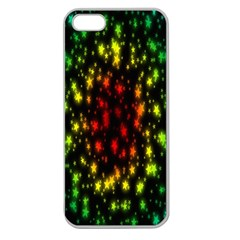 Star Christmas Curtain Abstract Apple Seamless iPhone 5 Case (Clear)