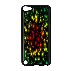 Star Christmas Curtain Abstract Apple iPod Touch 5 Case (Black)