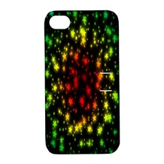 Star Christmas Curtain Abstract Apple iPhone 4/4S Hardshell Case with Stand