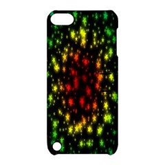 Star Christmas Curtain Abstract Apple Ipod Touch 5 Hardshell Case With Stand