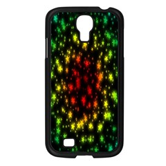 Star Christmas Curtain Abstract Samsung Galaxy S4 I9500/ I9505 Case (Black)