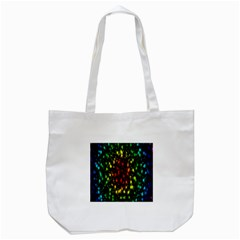 Star Christmas Curtain Abstract Tote Bag (white)