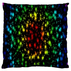 Star Christmas Curtain Abstract Standard Flano Cushion Case (one Side)
