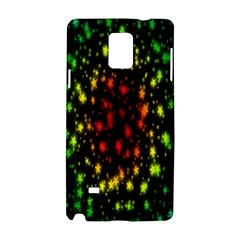 Star Christmas Curtain Abstract Samsung Galaxy Note 4 Hardshell Case