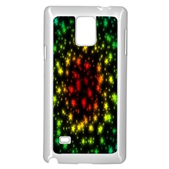 Star Christmas Curtain Abstract Samsung Galaxy Note 4 Case (White)