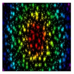 Star Christmas Curtain Abstract Large Satin Scarf (square)