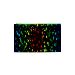 Star Christmas Curtain Abstract Cosmetic Bag (xs)