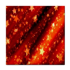 Star Christmas Pattern Texture Tile Coasters