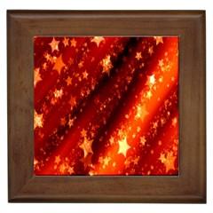 Star Christmas Pattern Texture Framed Tiles