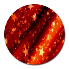Star Christmas Pattern Texture Round Mousepads