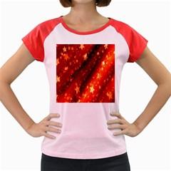 Star Christmas Pattern Texture Women s Cap Sleeve T-Shirt