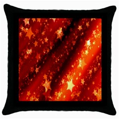 Star Christmas Pattern Texture Throw Pillow Case (Black)