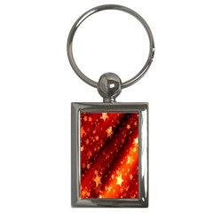 Star Christmas Pattern Texture Key Chains (Rectangle)