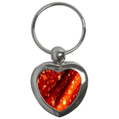 Star Christmas Pattern Texture Key Chains (Heart)