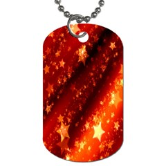 Star Christmas Pattern Texture Dog Tag (Two Sides)