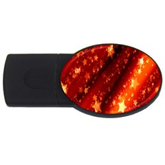 Star Christmas Pattern Texture USB Flash Drive Oval (2 GB)