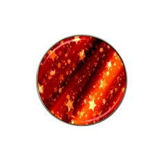 Star Christmas Pattern Texture Hat Clip Ball Marker (10 pack)