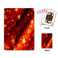 Star Christmas Pattern Texture Playing Card