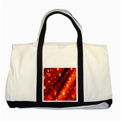 Star Christmas Pattern Texture Two Tone Tote Bag