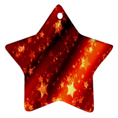 Star Christmas Pattern Texture Star Ornament (Two Sides)