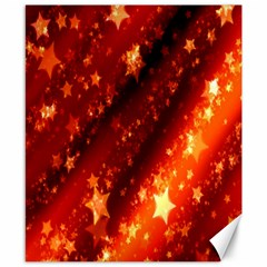 Star Christmas Pattern Texture Canvas 8  x 10