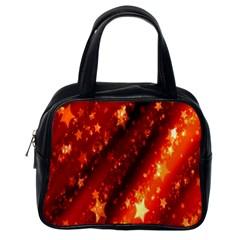 Star Christmas Pattern Texture Classic Handbags (one Side)