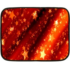 Star Christmas Pattern Texture Double Sided Fleece Blanket (Mini)