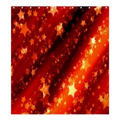 Star Christmas Pattern Texture Shower Curtain 66  x 72  (Large)