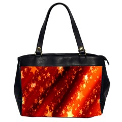 Star Christmas Pattern Texture Office Handbags (2 Sides)