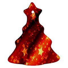 Star Christmas Pattern Texture Christmas Tree Ornament (Two Sides)