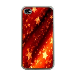 Star Christmas Pattern Texture Apple iPhone 4 Case (Clear)