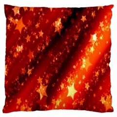 Star Christmas Pattern Texture Large Cushion Case (two Sides)