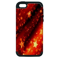 Star Christmas Pattern Texture Apple iPhone 5 Hardshell Case (PC+Silicone)