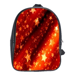Star Christmas Pattern Texture School Bags (xl)